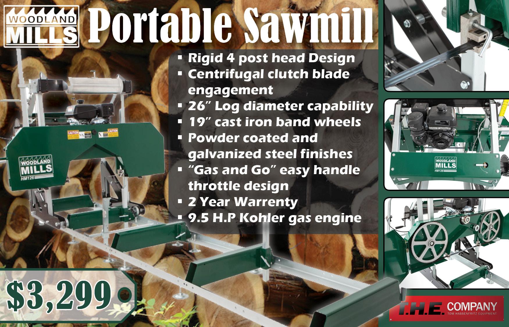 Woodland Mills Portable Sawmill - T H E  Company