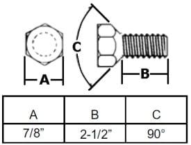 """5/8"""" Conical Hub Wheel Bolt"""