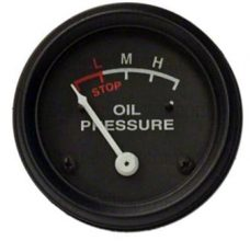 BLACK OIL PRESSURE GAUGE - ENGINE MOUNT