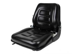 Back- Suspension Seat, Delta Switch (N-O), Retr. Seat Belt, Slides, Black