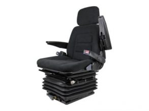 Adjustable Back Rest Seat with Slides, black vinyl