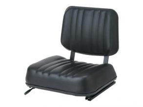 Universal 2 Piece Seat, Slides, Black