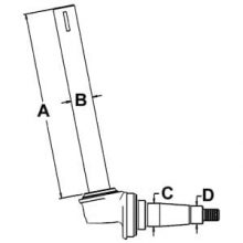 Row Crop Spindle 360407R91 for Farmall: M (Late), Super M, Super MTA, 400, 450