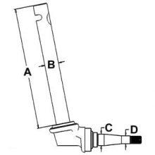 Row Crop Spindle 360420R91 (RH) for Farmall H, HV, Super H & HV, 300, 350