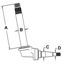 Row Crop Spindle 406266R92 (LH/RH) for Farmall 544 & 656