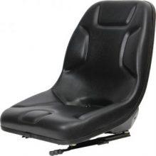 Ultra High-Back Steel Pan Seat – Ideal for Skid Steers Black Vinyl