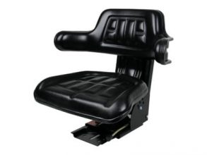 Universal Tractor Seat with Adjustable Suspension – Black