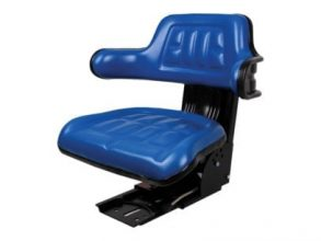 Universal Tractor Seat with Adjustable Suspension – Blue