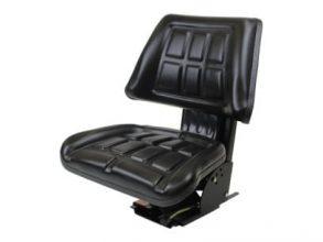 Trapezoid Seat with adj. Suspension, Black