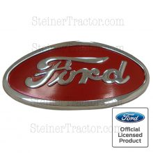 Chrome Red and Black Die Cast Emblem