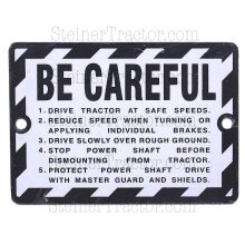 Be Careful Plate Emblem