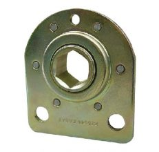 Bearing, with riveted flange