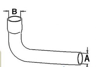 Allis Chalmers 200 Upper Radiator Hose