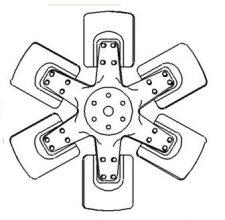 Farmall/IH 6 blade fan