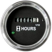 Universal Hour Meter, Chrome Bezel